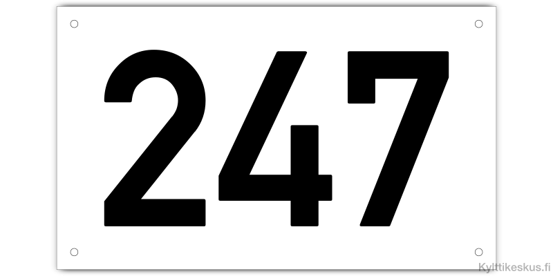 Kiinteistökilpi 250x150 mm