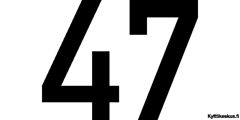 Nummeretikett 100-200 mm