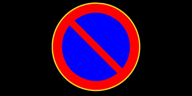 Pysäköinti kielletty -liikennemerkki