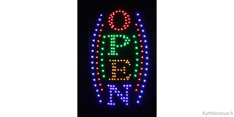 "Led-skylt ""OPEN"", vertikal"